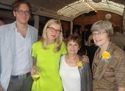 From left, Tom Folsom, author Lily Koppel, Harriet Eisele, once married to astronaut Donn Eisele; and Joan Parker Glancy at the book launch in Houston.