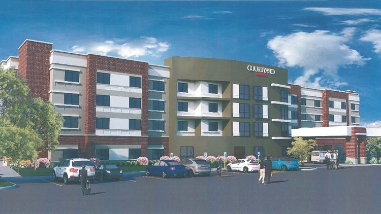 Rendering Of The Proposed Courtyard By Marriott 17369 Chesterfield Airport Road