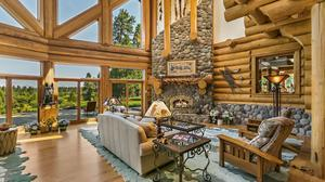 Elegant Hand Scribed Log Home