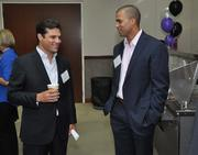Samuel Reich of Biscayne Pharmaceuticals and Chri Drew of HFF.