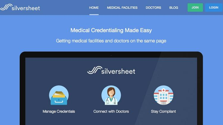 Silversheet digitizes documents, automates primary source verifications and reminds physicians when their credentials are coming due.