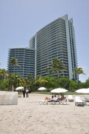 One Bal Harbour seen from the beach.