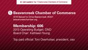 Beavercreek Chamber of Commerce is the No. 5 chamber of commerce.