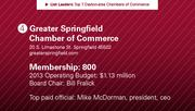 Greater Springfield Chamber of Commerce is the No. 4 chamber of commerce.