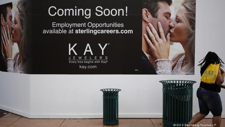 b490d6098 A shopper walks past the future location of a Kay Jewelers store at a  Mainland shopping