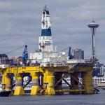 Shell oil rig arrives in Seattle amid protests afloat and on shore