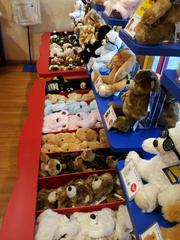 A customer's journey begins by choosing among several different kinds of bears and other animals.