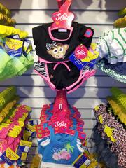 Build-A-Bear partners with retailers like New Albany-based Justice and Skechers shoes and Harley Davidson on bear apparel and accessories, some of which can be found in child size as well for kids that want to match their creations.