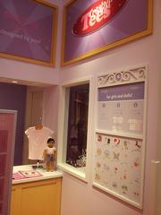 Children can custom-make matching shirts for themselves and their dolls at the store.
