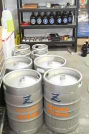 Zauber brewed 60 barrels last year, or about 120 kegs last year.