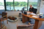 Kelley Drye & Warren's D.C. managing partner Lew Rose and his dog Pudd'n. Friday is the 15th annual Take Your Dog to Work Day.
