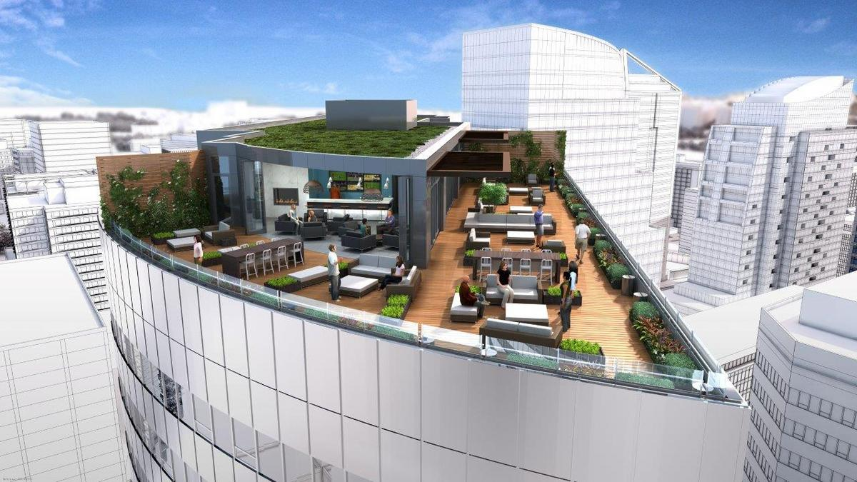 Rosslyn S Twin Towers To Enjoy Twin Roof Decks As Monday