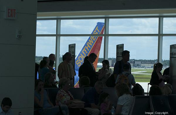 Passenger traffic at Jacksonville International Airport was down in January.