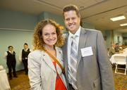 About 200 people attended the Sports Summit, including 49ers' Joanne Pasternack and Alain Pinel Realtors' Scott Green.
