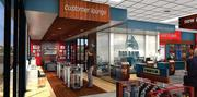 The redesigned store will feature a customer lounge.