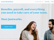 The homepage for Justworks, a cloud-based HR platform that's headquartered in Chelsea.