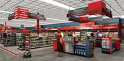 The interior will feature 'product neighborhoods,' replacing old store-length aisles.