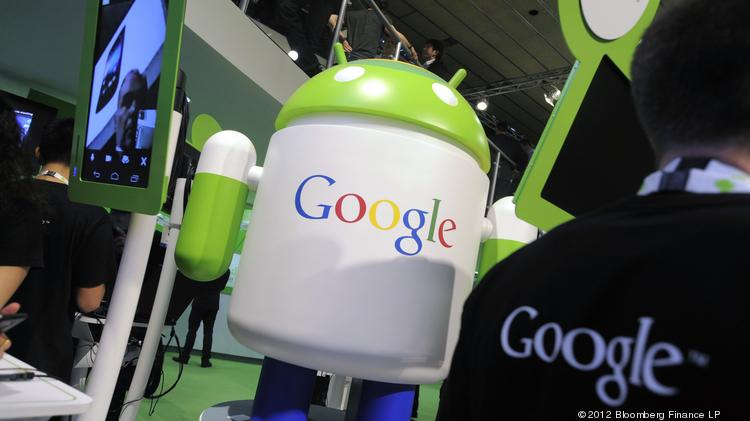 Google is initiating an effort to reach more app content as more Web users go mobile.  Photographer: Denis Doyle/Bloomberg