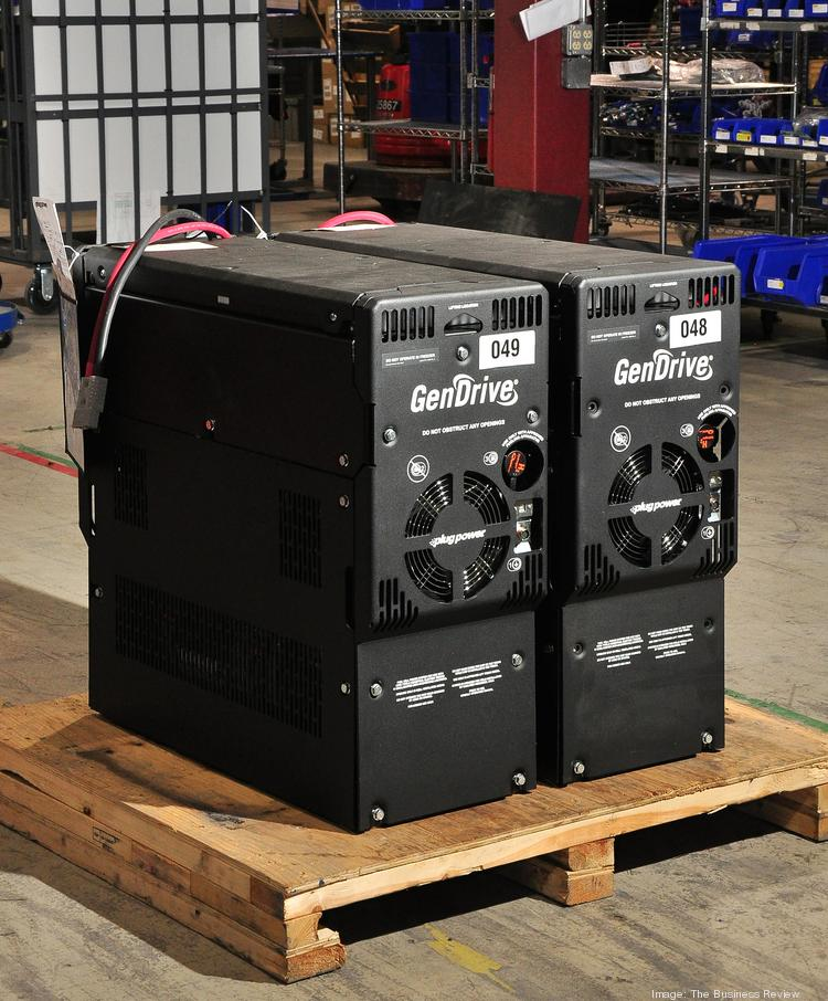 Plug Power GenDrive fuel cells. The newest models are 50 percent more powerful than any of the units the company currently has on the market.