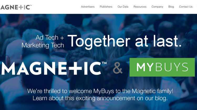 New York-based Magnetic is combining forces with Silicon Valley-based MyBuys.