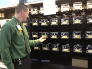 New lettuce and pre-packaged salad dispensers line the shelves at the Walmart Neighborhood Market in Downtown South.