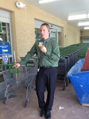 Store manager Michael Raybuck said about 100-200 people stop by the Walmart Neighborhood Market store in Downtown South each day, asking when it will open.