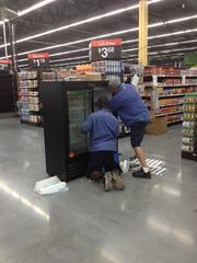 The Walmart Neighborhood Market in Downtown South is stocking its shelves in preparation for a June 26 opening.