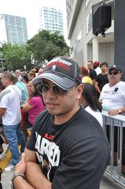 Freddy Singson from Washington, D.C., rerouted his vacation, after visiting Orlando, to attend the parade.