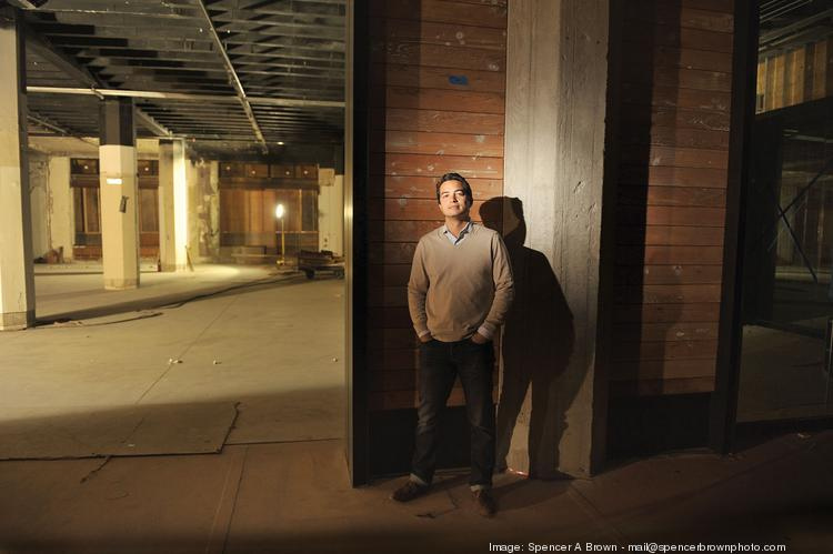 Matt Semmelhack of AQ Restaurant is building out the ground-floor space at 1355 Market St. where he and his partner will open BonMarché restaurant.