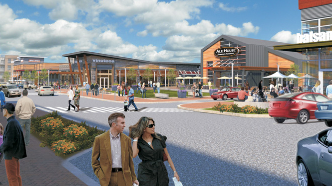 A Rendering Of How King Prussia Town Center Will Look When Completed