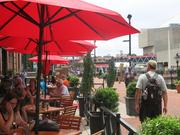 Phillips Seafood gives guests a front row view of the Inner Harbor with the restaurant's outdoor patio.