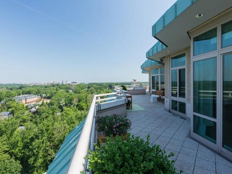 This penthouse suite at the Parc Somerset in Chevy Chase is back on the market for $8.7 million, roughly six months after it last traded for $7.95 million