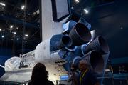 Guests can view the shuttle from nose to engines.