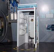 Included in the display is one of the most important pieces of equipment on any space vehicle.
