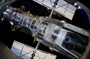 The Hubble Telescope, as seen from the lower level