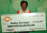 Kathy Scruggs matched all of the winning numbers in the Sept. 14, 2011 Powerball drawing after trying to purchase a Mega Millions ticket. Her mistake paid off!