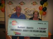 Robert Harris, with wife, Tonya, is the biggest winner in Georgia Lottery history.