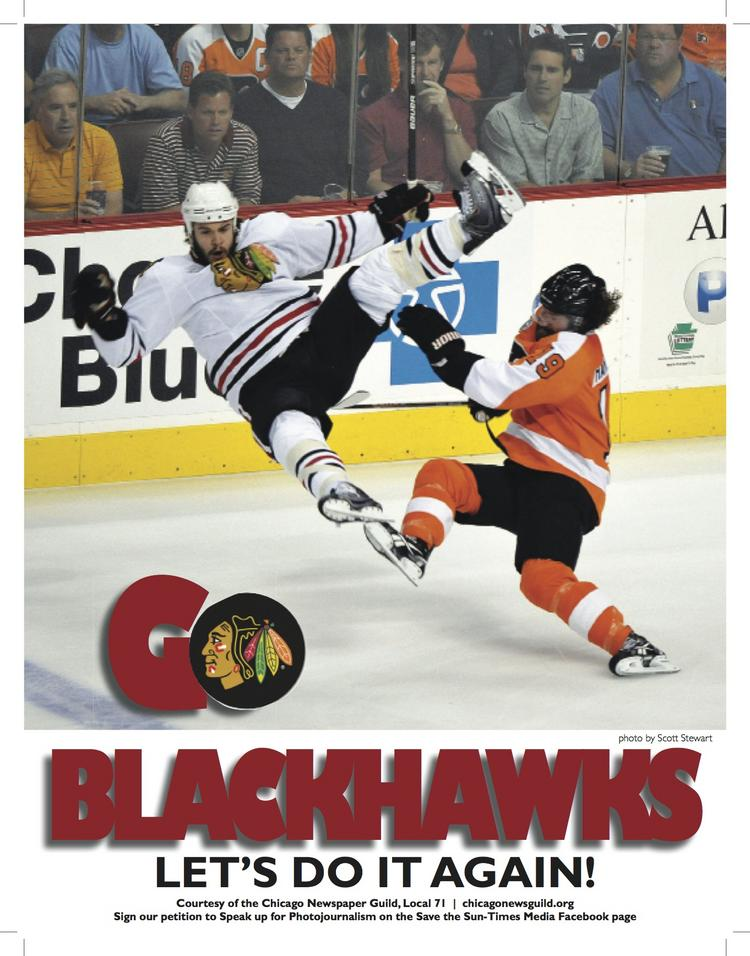 The headline on one side of a Chicago Newspaper Guild leaflet handed out at Saturday's last home game of the season turned out to  prophetic.
