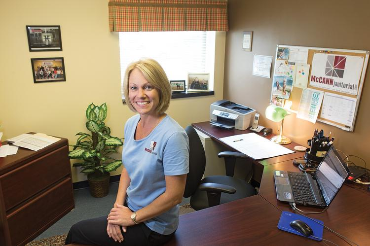 Tammy Gnau is president of McCann Janitorial Services Inc. in Perry Hall.