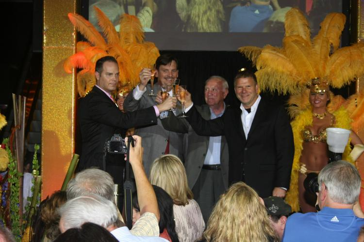 Pictured (from left): Brad Rhines, vice president of marketing for Golden Nugget Biloxi; Jim Hoskins, general manager of Golden Nugget Biloxi; AJ Holloway, mayor of Biloxi; Tilman Fertitta, CEO of Houston-based Landry's Inc., which owns the Golden Nugget Biloxi