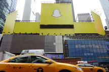 Snapchat in Times Square