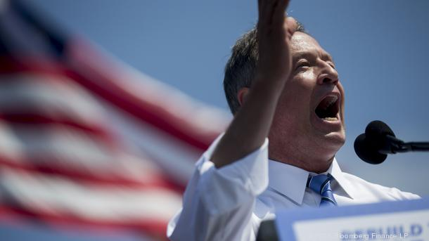 Martin O'Malley, former governor of Maryland, speaks while announcing he will seek the Democratic presidential nomination at Federal Hill Park in Baltimore, Maryland, U.S., on Saturday, May 30, 2015. O'Malley said he will seek the Democratic nomination fo