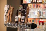 A few of the beers on tap, including a few local brews.