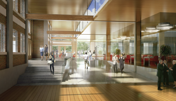 This is an artist's rendering of what the interior of Touchstone Corp.'s office campus in Seattle's South Lake Union area will look like. Construction of the first building will start in the first quarter of 2014, a Touchstone official said Thursday.