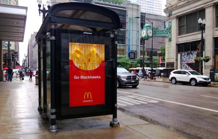 Chicago-area McDonald's operators and ad agency Leo Burnett already have created their tribute to the Chicago Blackhawks.