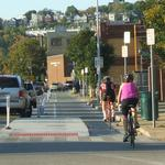 Did car crashes on Central Parkway rise with bikeway installation?