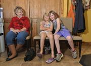 Mary Chichester with grandaughters Danielle Chichester and Jaidyn Rose, inside Shear Heaven Nail & Hair Salon on Main Street in Middleburgh