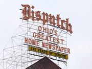 The Columbus Dispatch sign over Capitol Square.