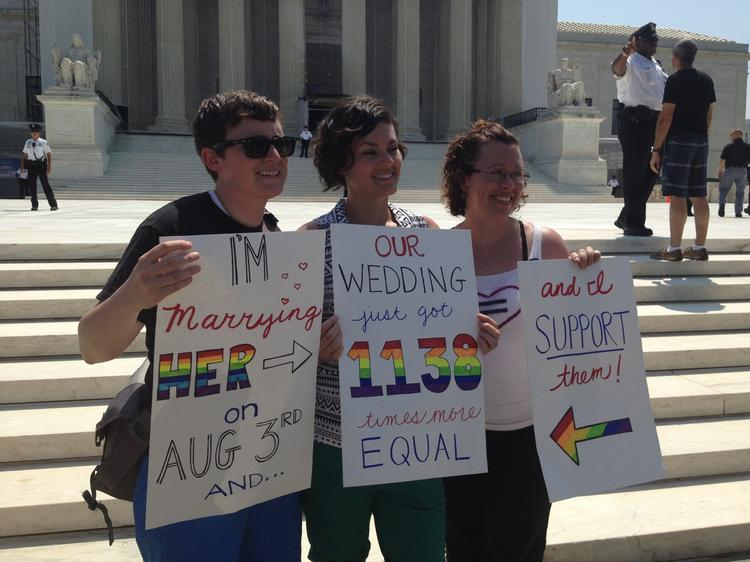 The gay rights movement saw a significant victory at the Supreme Court Wednesday, even as the court dismissed the Prop. 8 case.