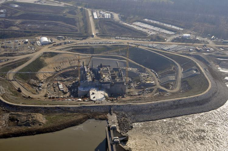 AMP is making progress on its Cannelton hydroelectric power station on the Ohio River.